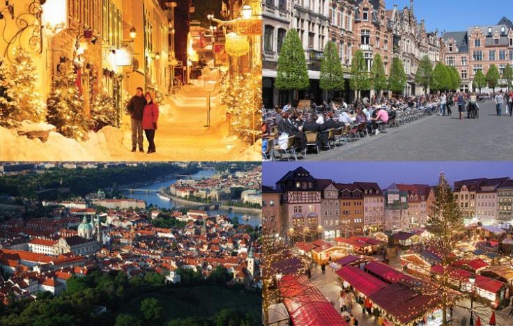 Quebec, Leuven, Prague, Jena